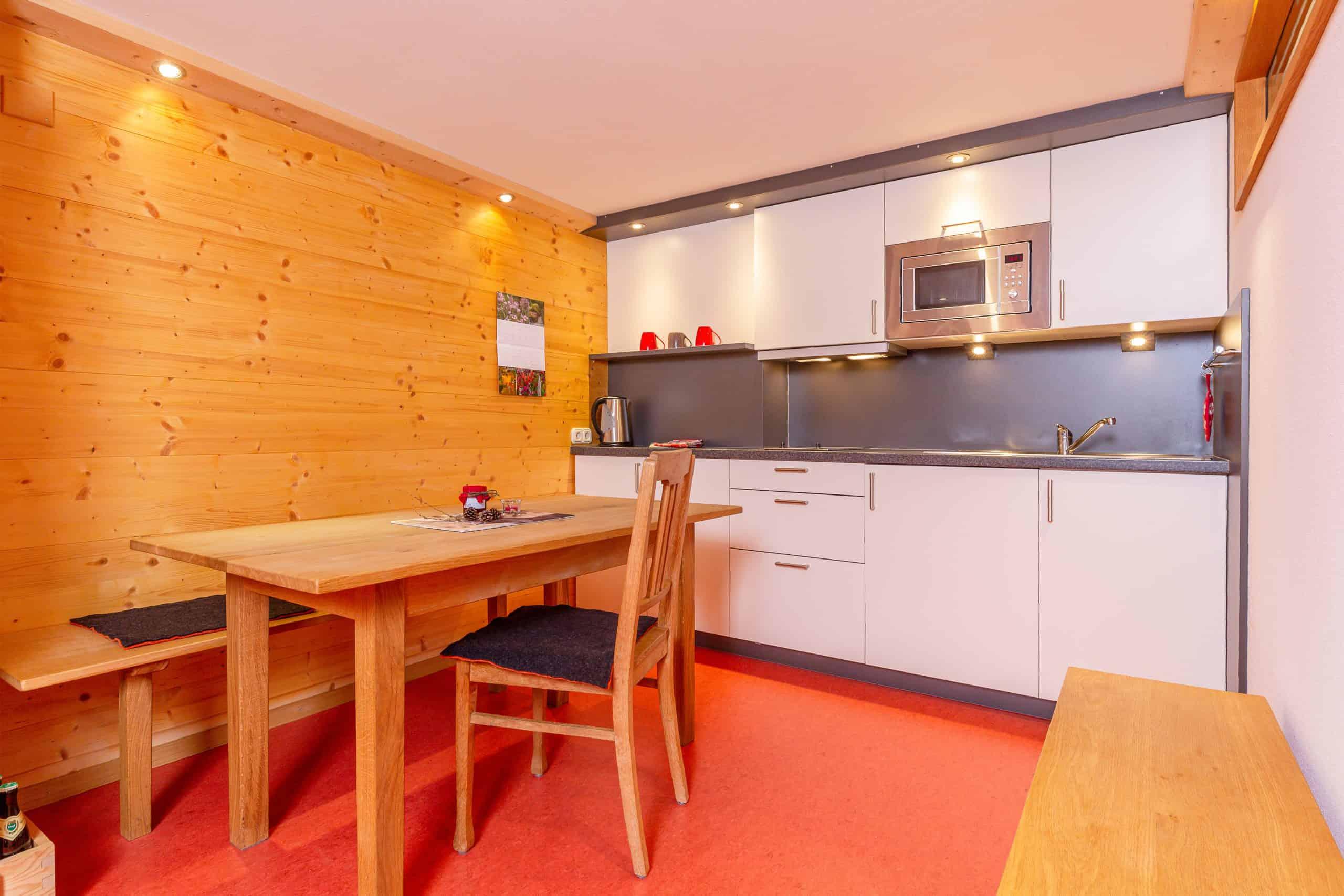 Küche der Ferienwohnung Wilder Kaiser der Familie Wolfenstetter in Reit im Winkl
