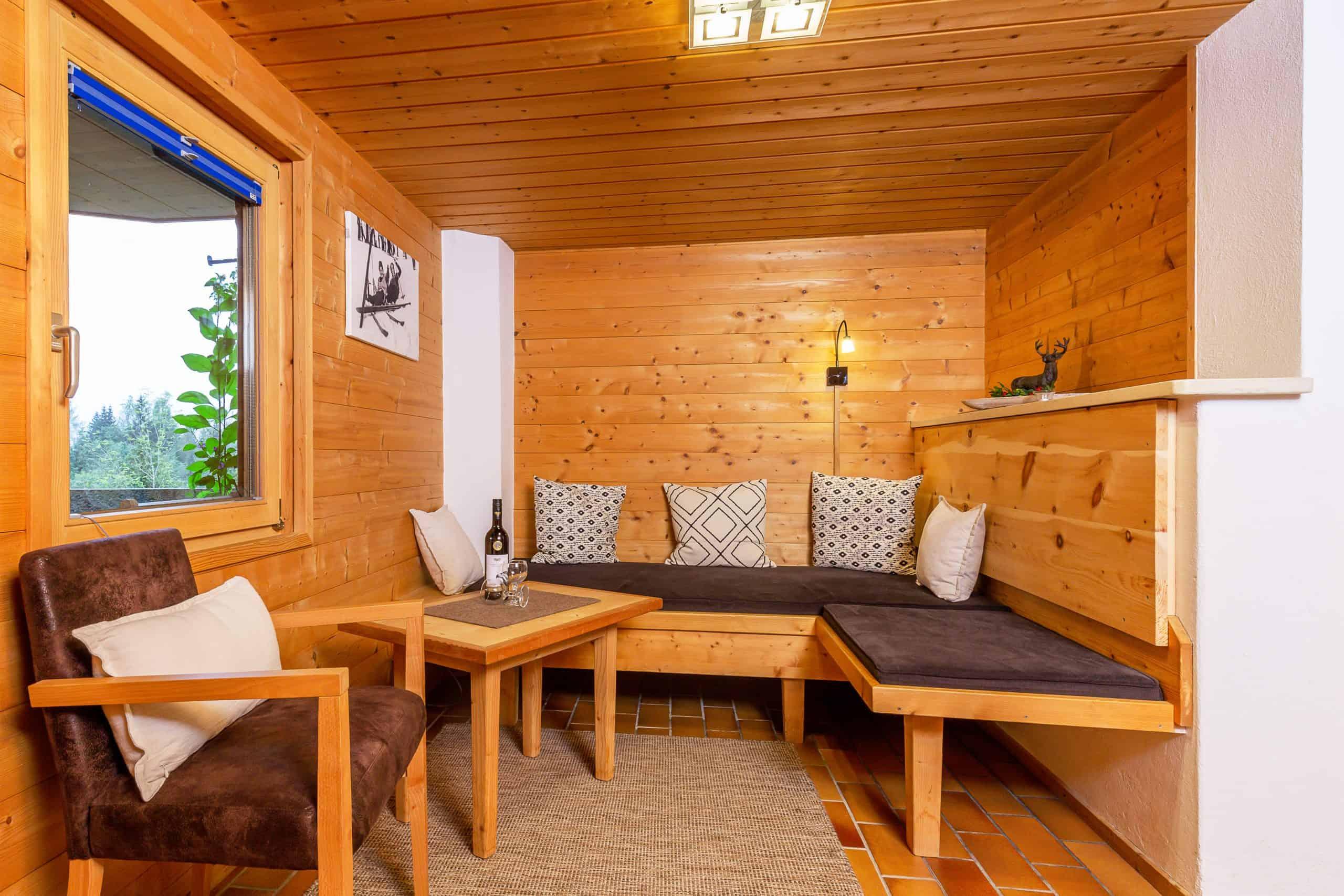 Bequemes Wohnzimmer Ferienwohnung Wilder Kaiser Familie Wolfenstetter