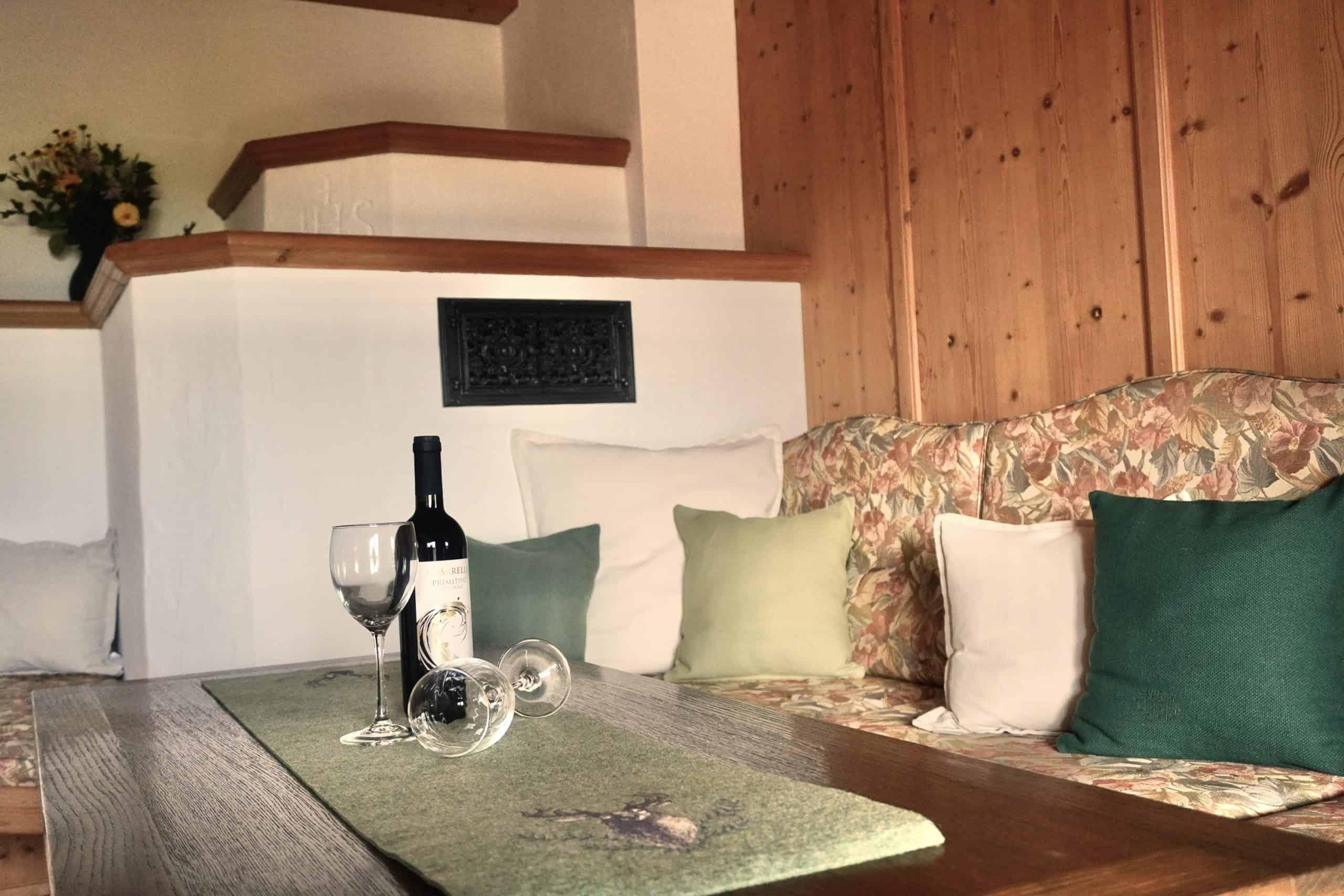 Wohnzimmer in der Ferienwohnung Zahmer Kaiser - Ferienwohnung Wolfenstetter Reit im Winkl